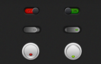 On/Off Switch Buttons PSD