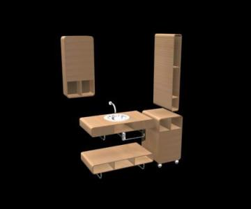 one set Cabinets 3D Model