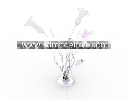 Opening flowers shaped lamp 3D Model