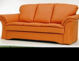 Orange leather sofa 3D Model