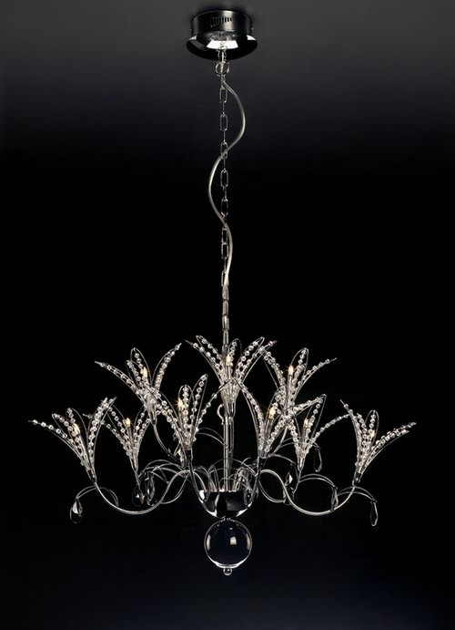 Orchid-like crystal glass chandelier 3D Model