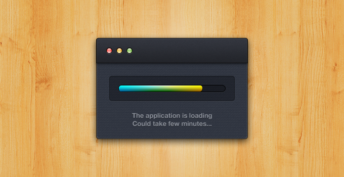 OS X Application Loading PSD