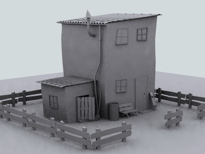outdoor architectural  3— Outdoor Scene 3D Model