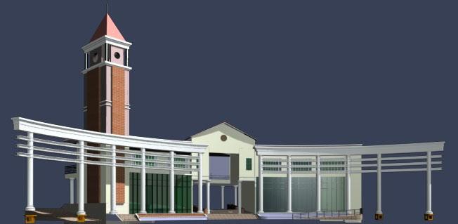 Outdoor construction  2-20 3D Model