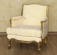 Pale yellow exquisite sofa chair 3D Model
