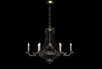 Pendant Lamp Model: European Style Wrought Iron Pendant Lamp 3D Model
