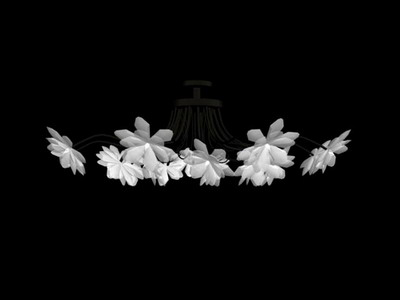 Pendant Lamp Model: Modern Floral Motif Pendant Lamp 3Ds Max Model
