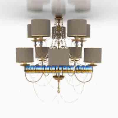 Pendant Lamp Model��Modern Style Chandelier 3Ds Max Model