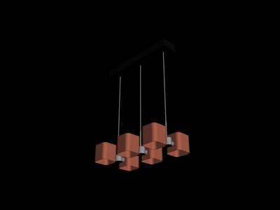 Pendant Lamp Model��Strut Pendant Lamp 3Ds Max Model