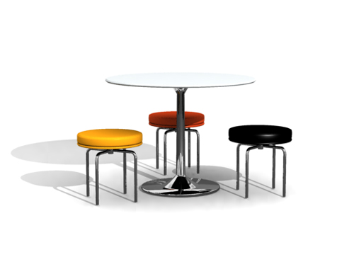 Personality circular chair 3D models