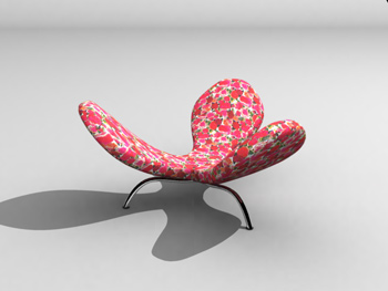Personality petal shape sofa 3D Model