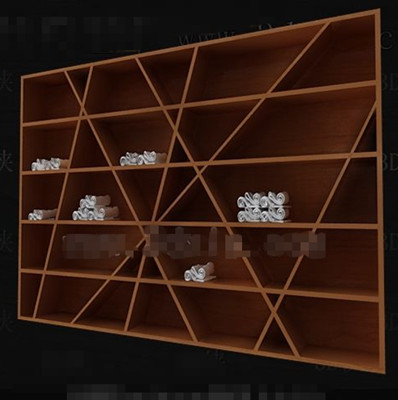 Personalized multi-layer wooden cabinet 3D Model