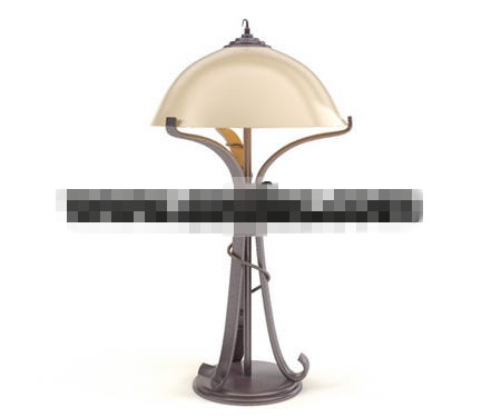 Personalized Wrought Iron lamp 3D Model