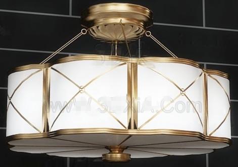 Petal shaped pendant lamp 3D Model