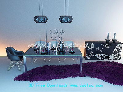 Petty abstract 3D model of furniture