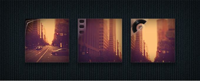 Photos, Video, and Audio Icons PSD