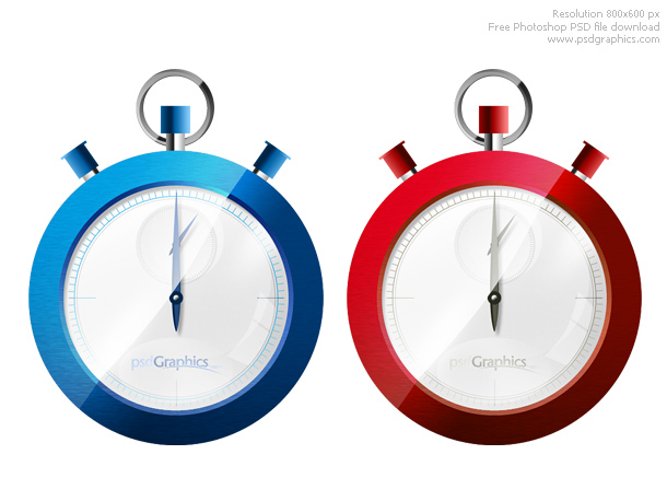 Photoshop stopwatch icon PSD
