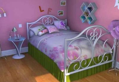 Pink boudoir model 3D Model