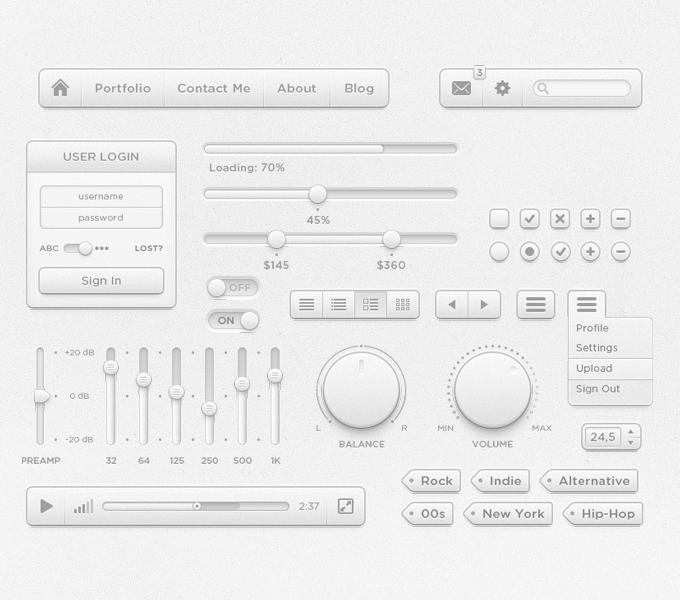 Poky UI Kit PSD