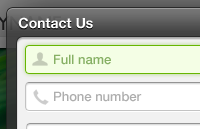 Pop-up Contact Form PSD