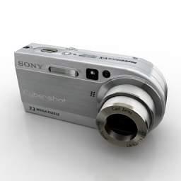 Popular Digital Camera Model 3D Model