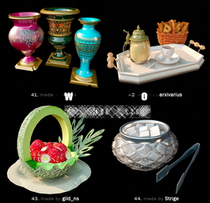 Pretty fine tableware and dining accessories model of small 10-8 3D Model