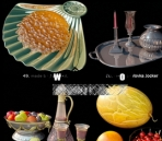 Pretty fine tableware and dining accessories model of small 11-8 3D Model