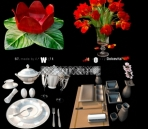 Pretty fine tableware and dining accessories model of small 12-8 3D Model