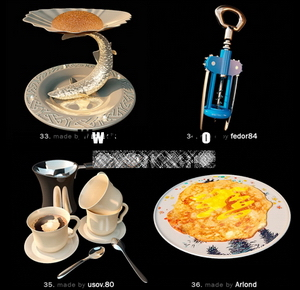 Pretty fine tableware and dining accessories model of small 9-8 3D Model