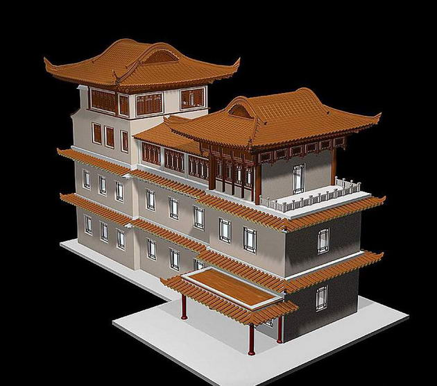 ��PRG format�� 9 sets China 3D Model