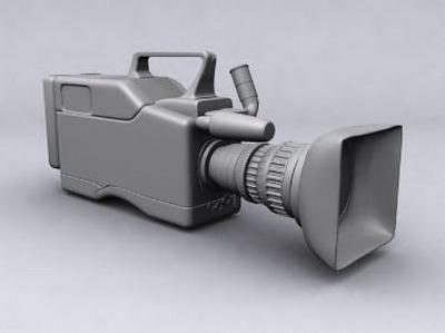 Professional Video Camera 3DsMax Model