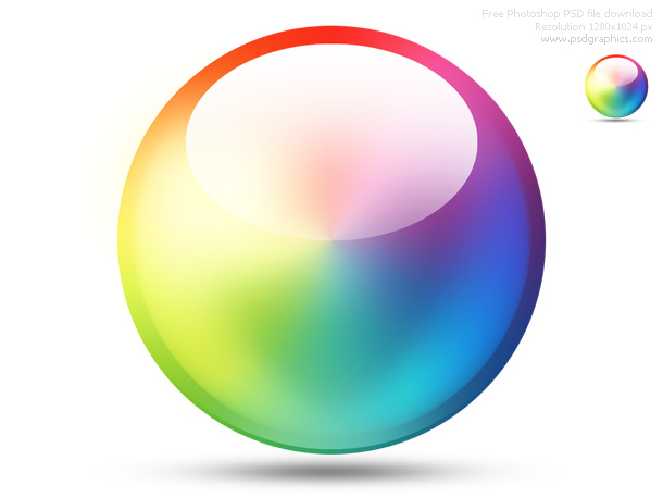 PSD color wheel icon | Free download