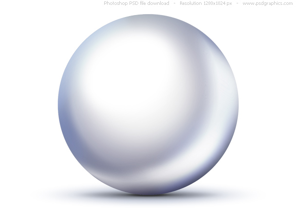 PSD shiny white pearl icon
