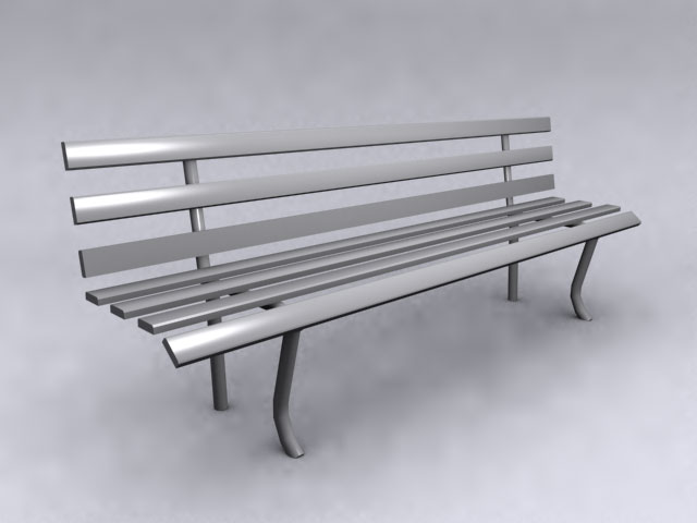 Public bench 3D models