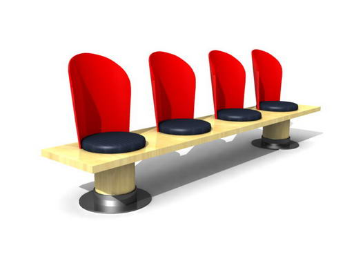 public chairs-65 3D Model