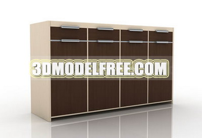 Public school furniture cabinet wardrobe simple 3D model of simple