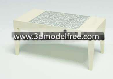 Pure fine carved coffee table 3D Model