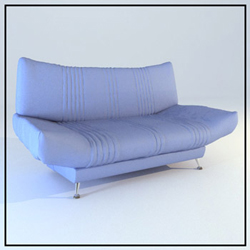 Purple fashion sponge cloth art sofa 3D models