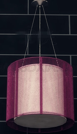 Purple lampshade pendant lamp 3D Model