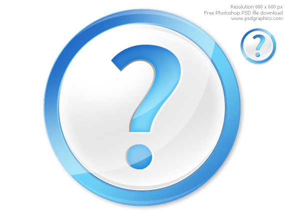 Question mark icon PSD