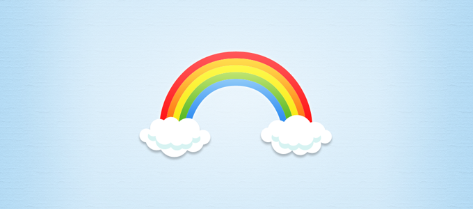 Rainbow and Clouds PSD