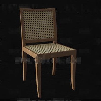 Rattan knitted hollowing chair 3D Model