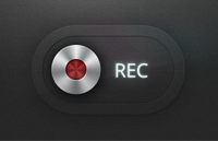 Record Button PSD