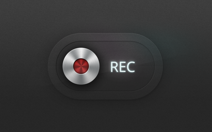 Record Button PSD