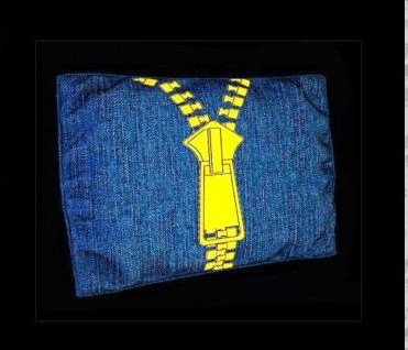 Rectangular fashion denim pillow 3D Model