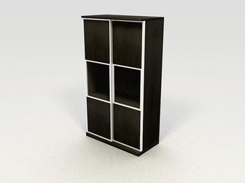 Rectangular solid wood cabinets lockers stylish furniture 3D Models