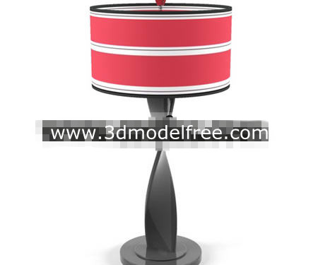 Red abstract distorted shape holder lamp 3D Model