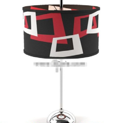 Red black and white shade floor lamp 3D Model