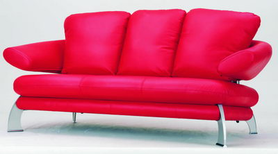 Red casual fashion sofa 3d model