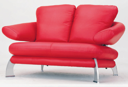 Red double back sofa 3D Model of personality (including materials)